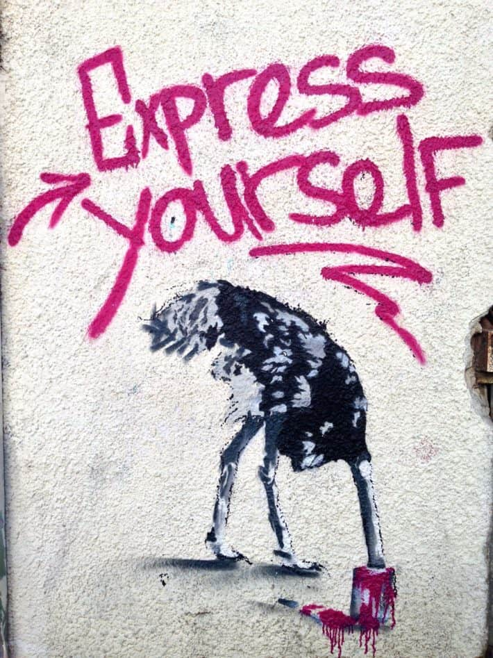 Streetart, November 2017, Vogel, express yourself