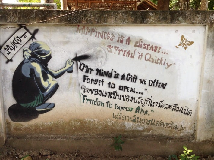 Streetart in Pai, Thailand