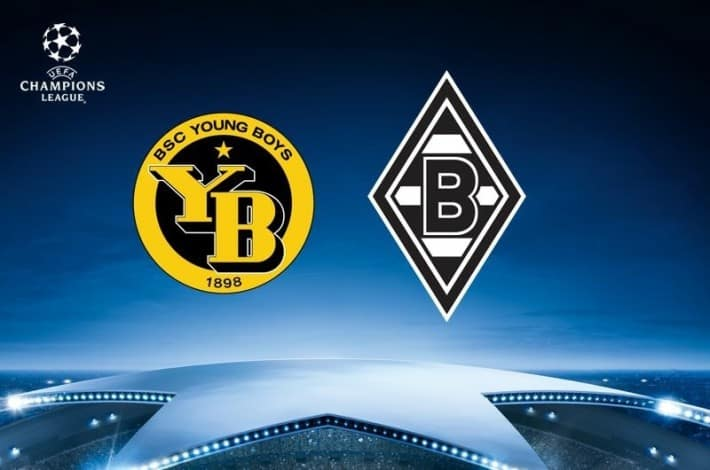 Champions League Logo Bern vs. Gladbach