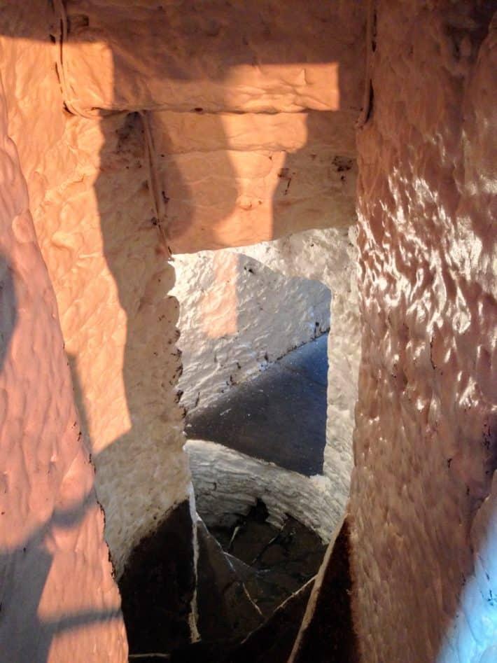 Treppe zum Kerker im Bunratty Castle