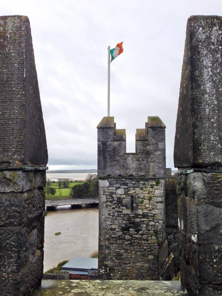 Bunratty Castle, auf dem Burgturm