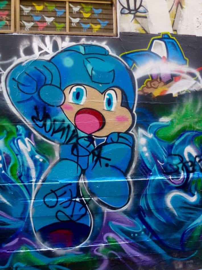 Streetart, Future, blau, Männchen, aus Melbourne