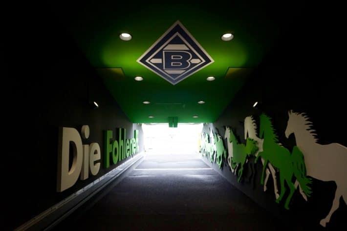 Fohlenelf: Der Spielertunnel im Borussia-Park