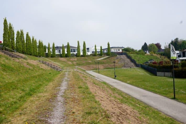 Fohlenelf, Überreste des alten Fussballstadions, dem Bökelberg