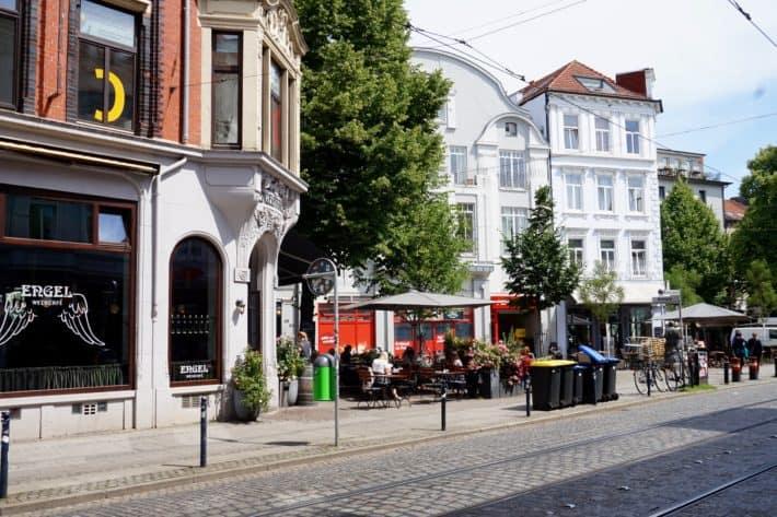 Das Viertel, typisches Straßenbild, Cafes