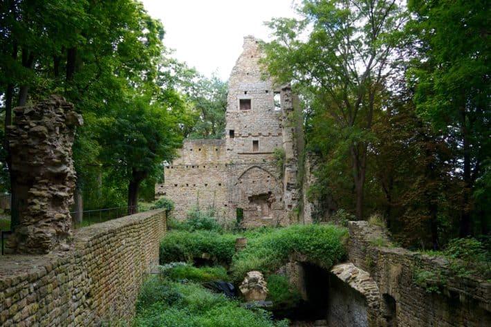 Klosterruine Disibodenberg, Etappenziel Hildegard von Bingen Pilgerwanderweg