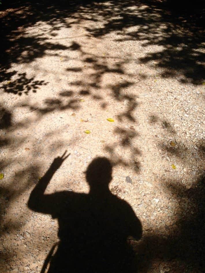 Foto von mir auf dem Pilgerwanderweg
