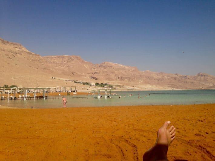 Totes Meer, Israel, Beitrag über Schuppenflechte, Strand, Meer