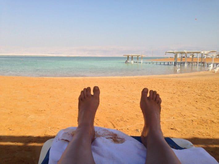En Bokek, Israel, Totes Meer, Schuppenflechte, Sonnenbad