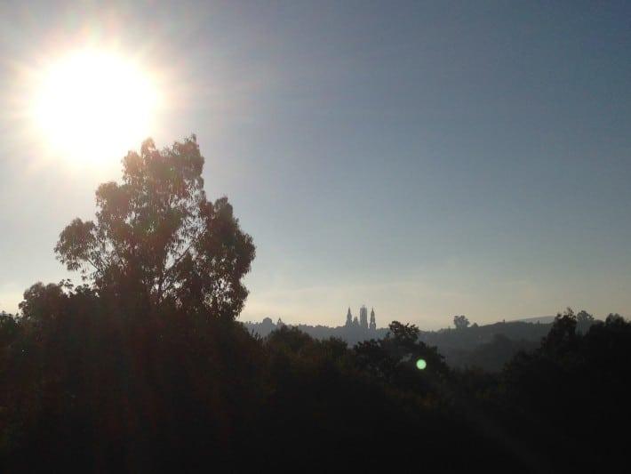 Kathedrale von santiago de Compostela am Morgen, Jakobsweg
