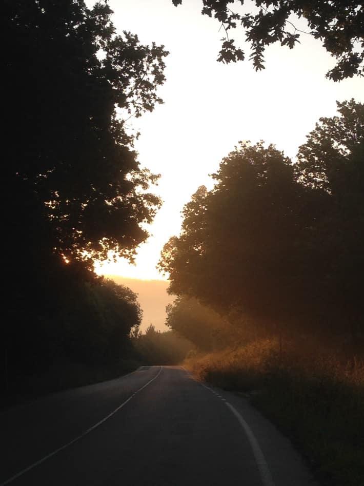 Morgensonne küsst die Straße, Jakobsweg