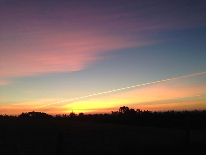 Sonnenaufgang, Jakobsweg