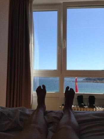 Schicke Aussicht...vom Bett auf s Meer, Muxia