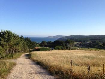 Landschaft auf dem Weg nach Finisterre, Jakobsweg
