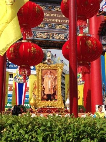 Bild vom König von Thailand