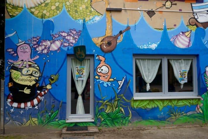 Streetart Hausfassade, Bunt, Bremen