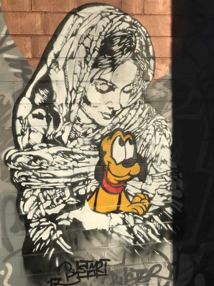 Walt Disney, Streetart, Pluto, Berlin