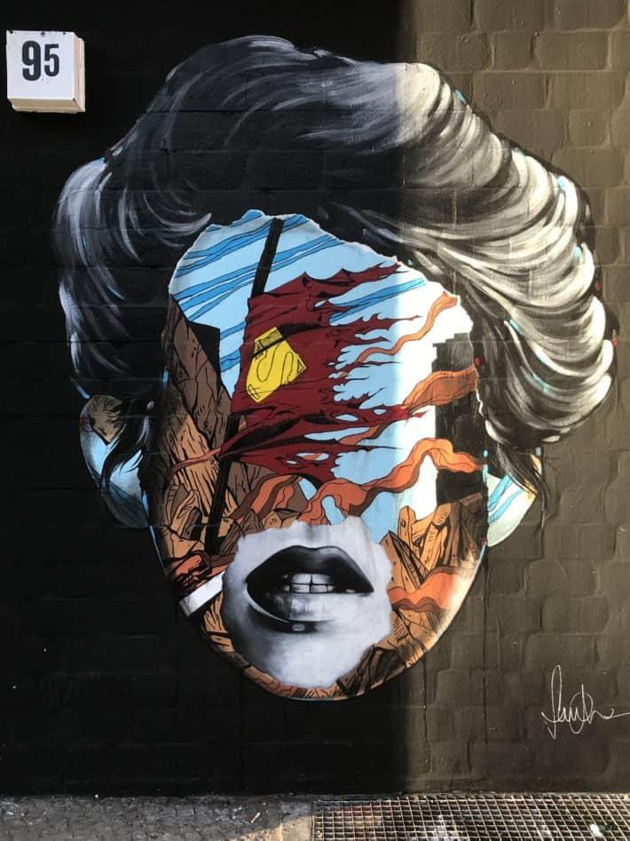 Streetart, bunt, Kopf, Gesicht