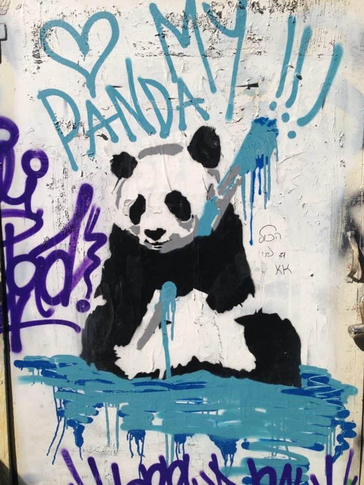 Streetart, Tel Aviv, Panda