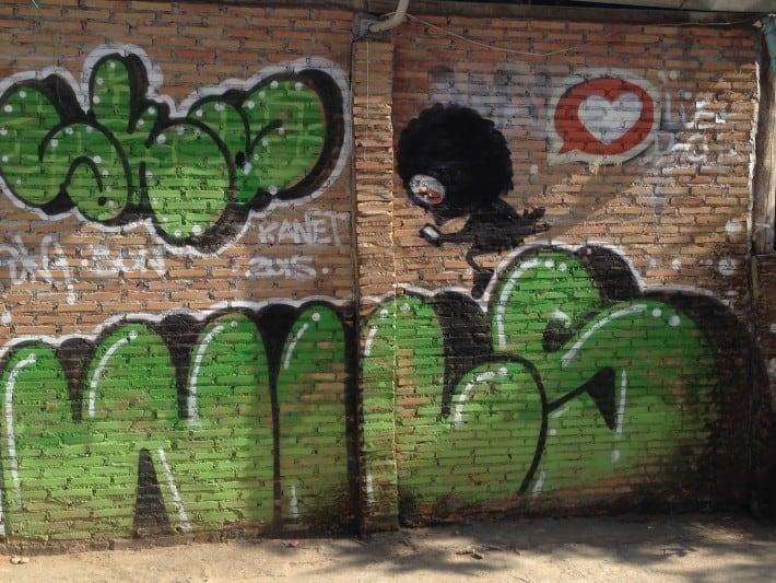 Streetart in Pai, Thailand, Dezember 2015