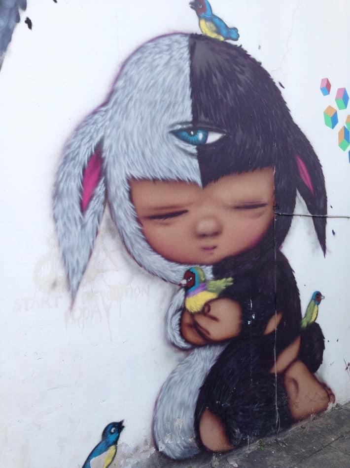 Streetart in Chiang Mai, Thailand