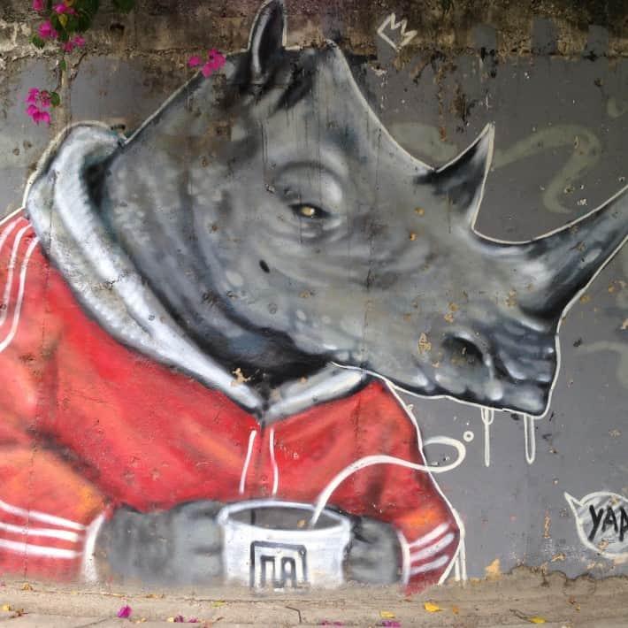 Streetart in Chiang Mai, Thailand, Dezember 2015