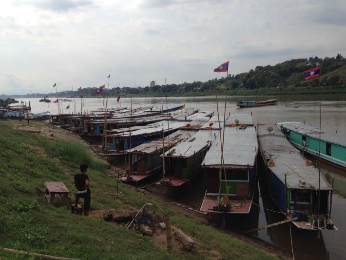 Pier in Laos