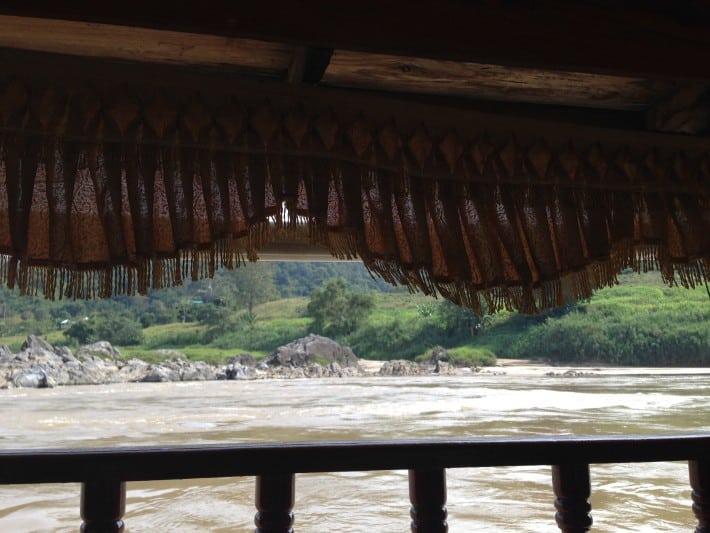 Bootstrip auf dem Mekong