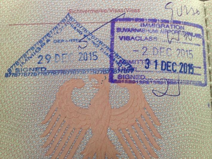 Ausreisestempel Thailand
