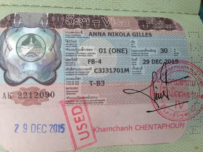 Mein Visum für Laos