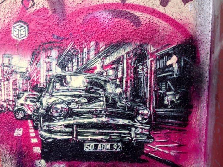 Wallart, Street Art, pink, Auto, bunt, Berlin