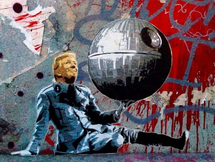 Streetart, Juli 2017, Köln, Todesstern, Star Wars