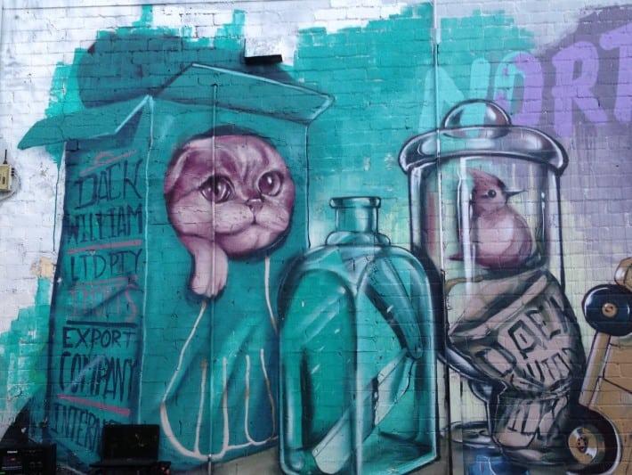 Streetart März 2016 in Australien, Perth