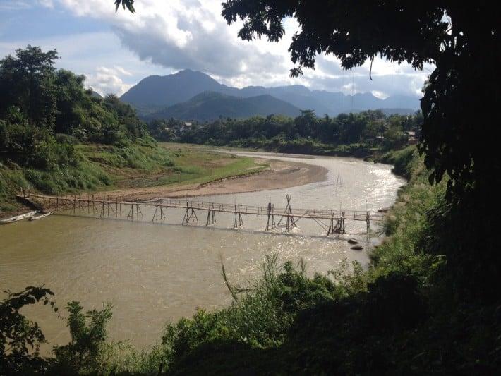 Brücke über den Mekong in Luang Prabang