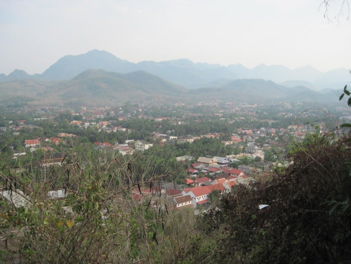 Aussicht vom Hausberg in Luang Prabang