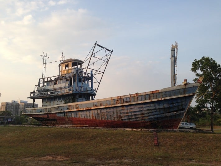 Boot in der Nähe vom Tsunami Memorial Park