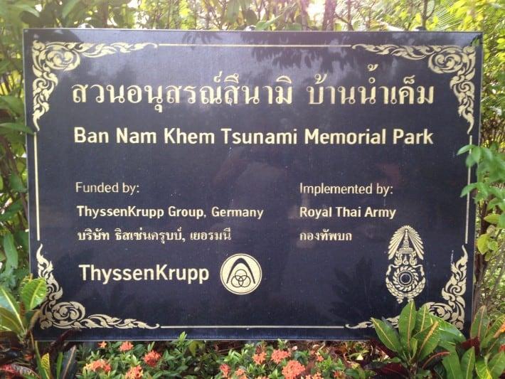 Memorial Park wg. Tsunami