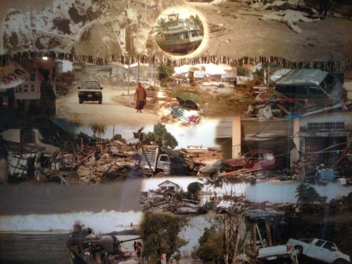 Fotocollage Tsunami 2004