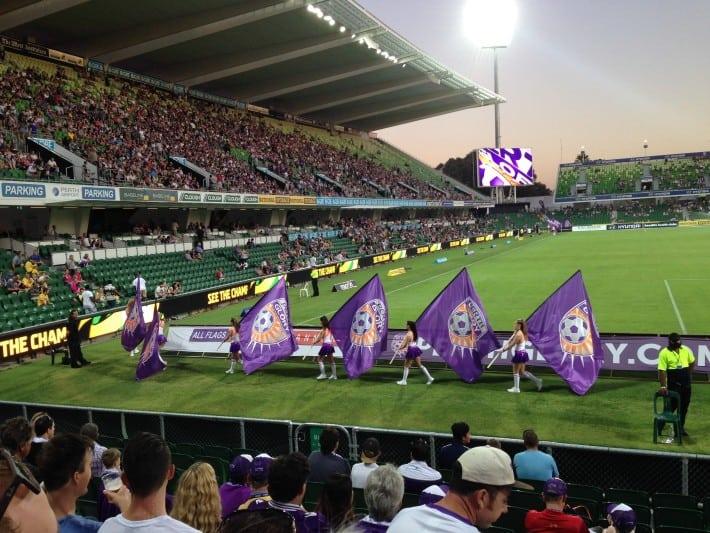 Im Stadion von Perth Glory