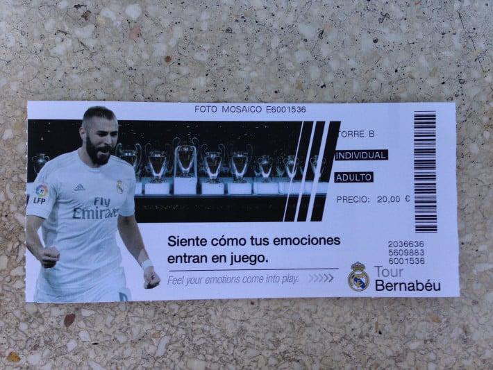 Ticket Santiago Bernabeu