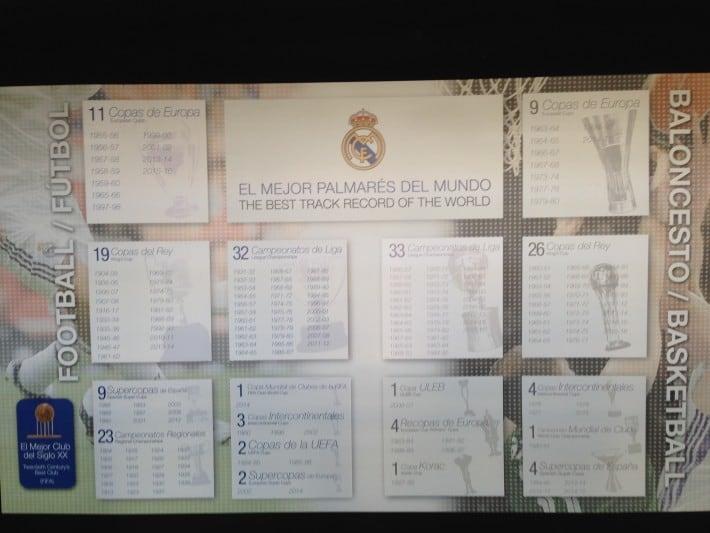 Gewonnene Titel Santiago Bernabeu Stadion