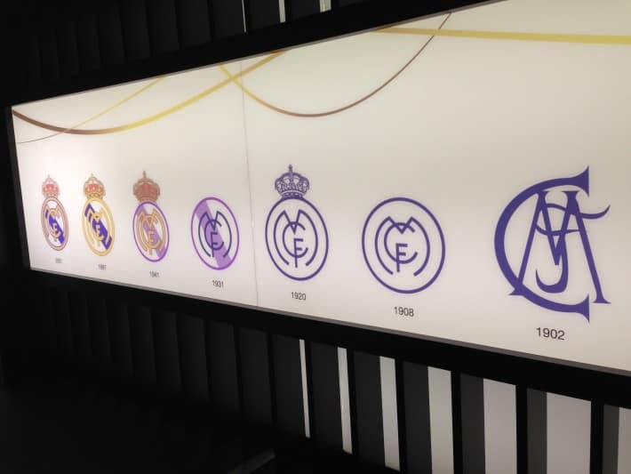 Entwicklung Logo Real Madrid