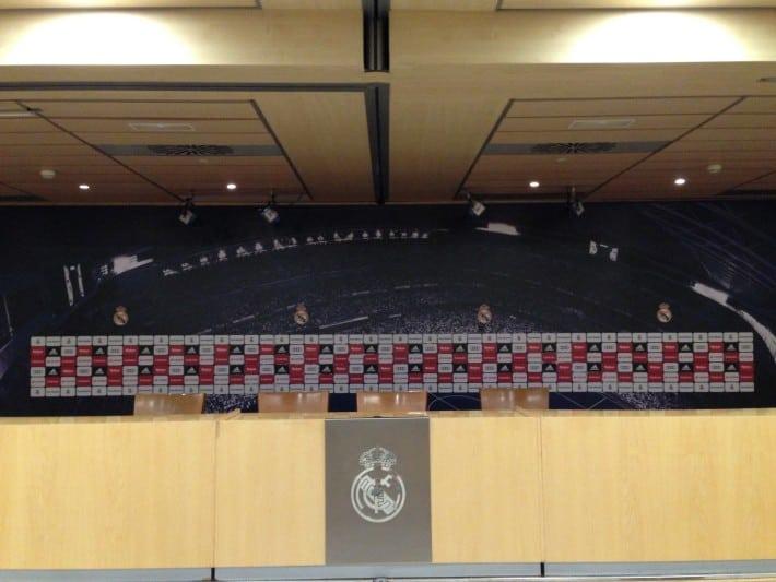 Presseraum Santiago Bernabeu Stadion