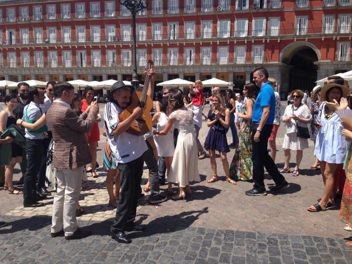 Hochzeit auf der Plaza Mayor in Madrid