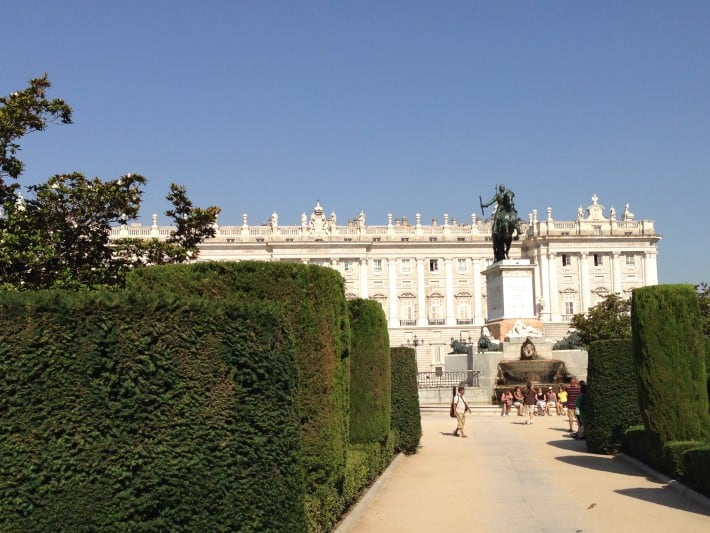 Plaza del Oriente in Madrid