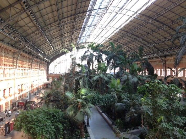 Bahnhofshalle Atocha Bahnhof Madrid
