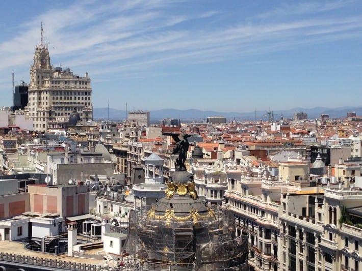 Aussicht von Rooftop Bar in Madrid
