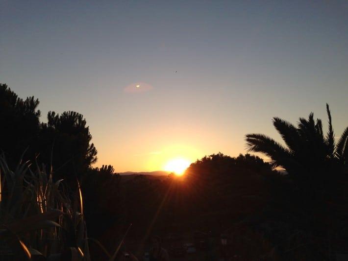 Sonnenuntergang Templo de Debod in Madrid