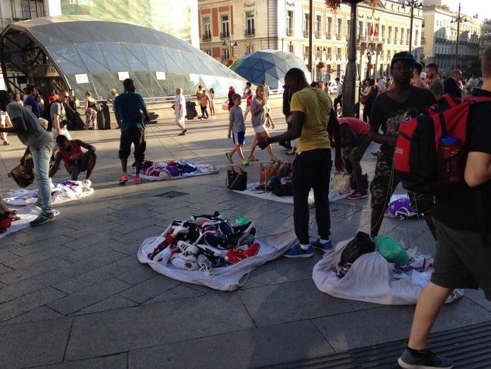 Fliegende Händler Madrid