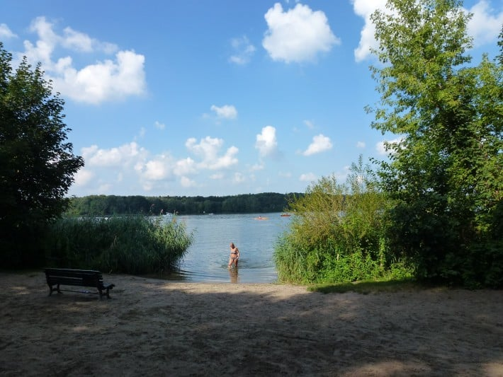 Badestelle am Tegeler See